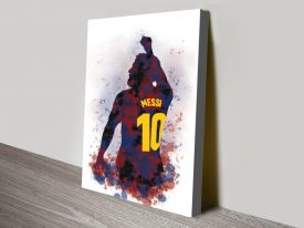 Buy Lionel Messi Silhouette Framed Artwork