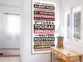 Port Melbourne Tram Banner Canvas Artwork