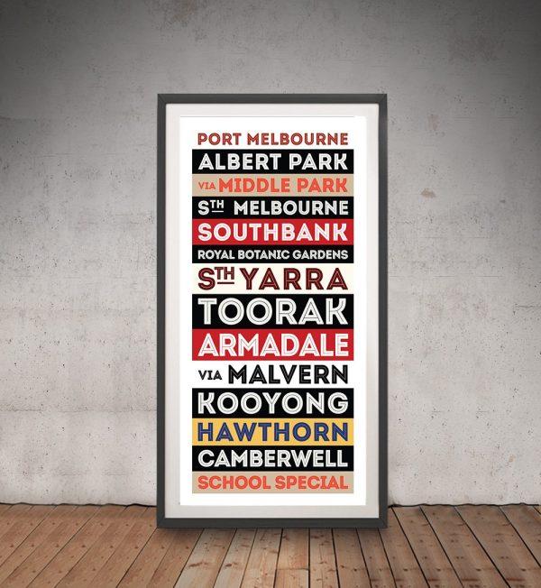 Port Melbourne Framed Tram Sign Art