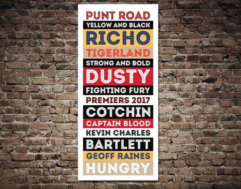 Richmond Tigers AFL Canvas Print Australia