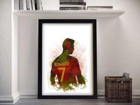 Buy a Framed Ronaldo Watercolour Print