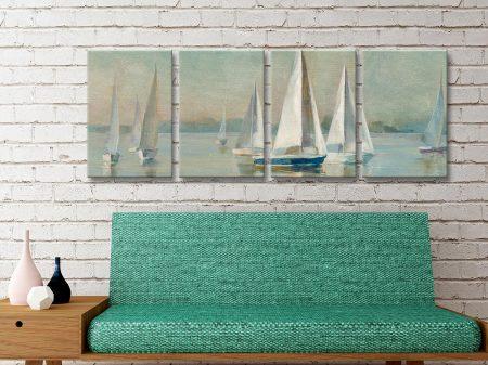 Buy Sailboats at Sunrise Danhui Nai 4-Panel Set