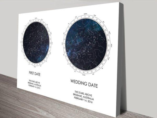 Buy Dual Star Chart Prints Unique Gifts AU