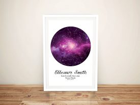 Buy Purple Cosmos Custom Star Chart Prints