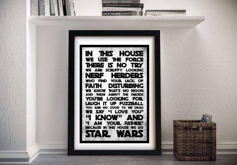Star Wars House Wall Art