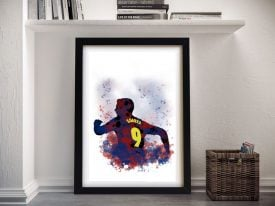 Buy Watercolour Suárez Portrait Wall Art