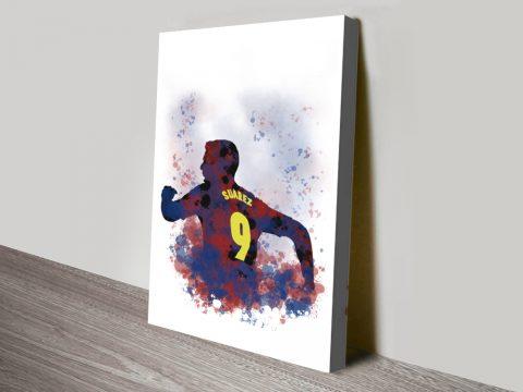 Buy Watercolour Footballer Portrait Prints