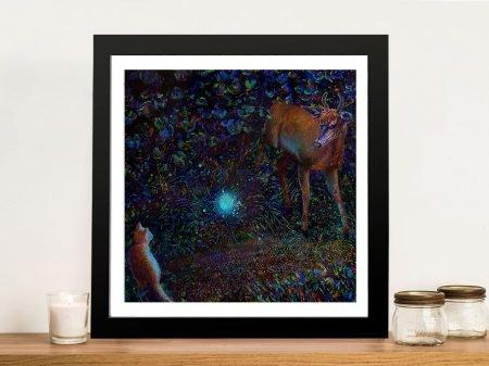 Buy a Framed Iris Scott Print of The Visitor