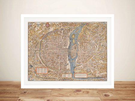 Buy a Paris Street Map Framed Wall Art Print