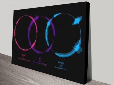 Soundwave art canvas print Australia