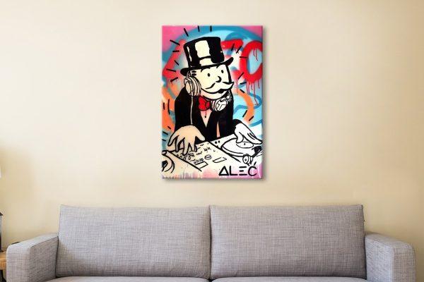 Buy Alec Monopoly DJ Canvas Print