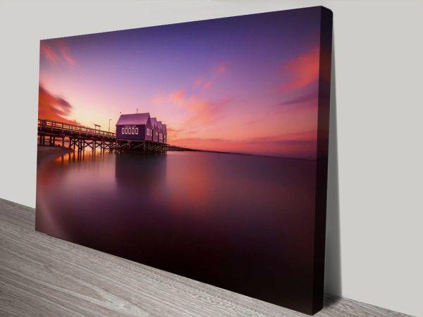 Buy Busselton Sunset Framed Canvas Art