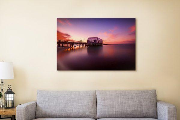 Buy Ready to Hang Sunset Ocean Artwork