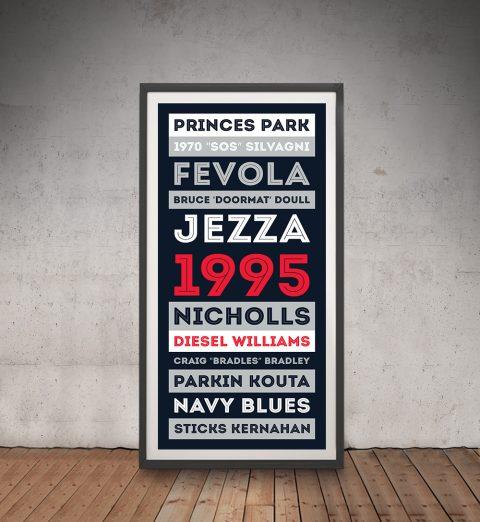Carlton Blues AFL Prints Australia