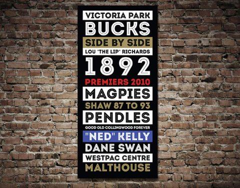 Collingwood Magpies Retro canvas print
