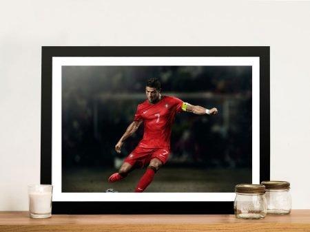 Buy a Framed Print of Ronaldo in Action