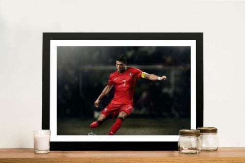 Buy a Framed Print of Ronaldo in Action
