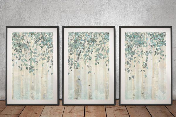 Dream Forest Framed 3-Piece Art Set for Sale