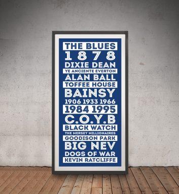 Buy Blue & White Everton FC Tram Scroll Artwork