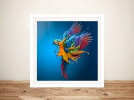 Buy Flying Colours Colourful Parrot Artwork