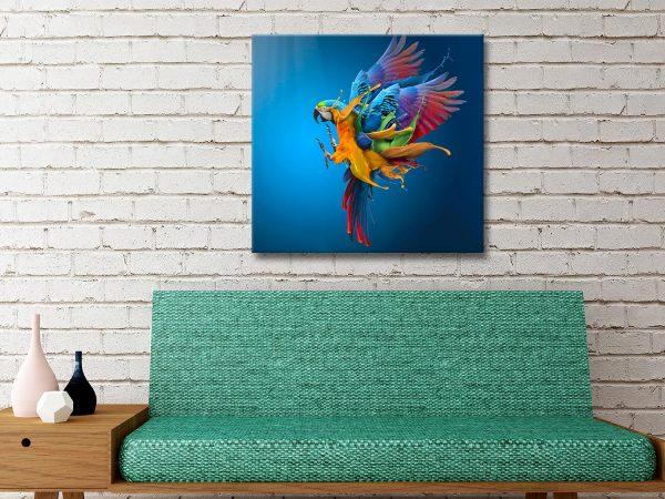 Buy a Ready to Hang Striking Parrot Print