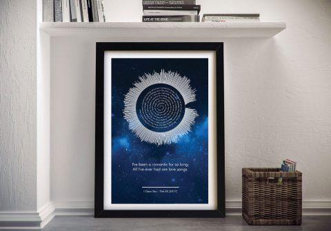 Buy Cosmic Soundwave Custom Made Wall Art