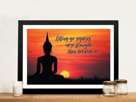Buy Let Go Inspirational Quotes Framed Art
