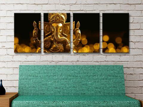 Buy Golden Ganesha Ready to Hang Wall Art