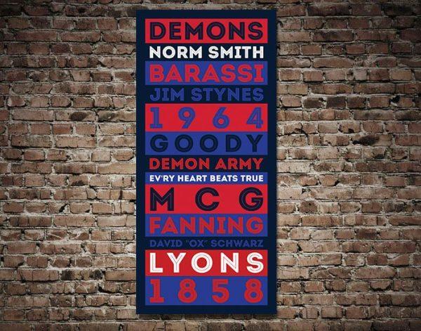 Melbourne Demons canvas print