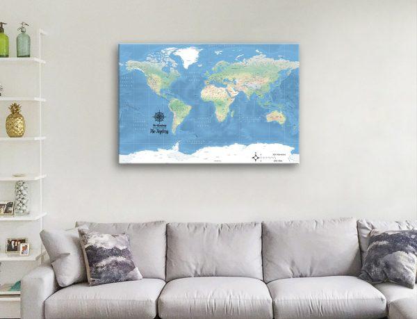 Buy Affordable Custom World Map Art Online