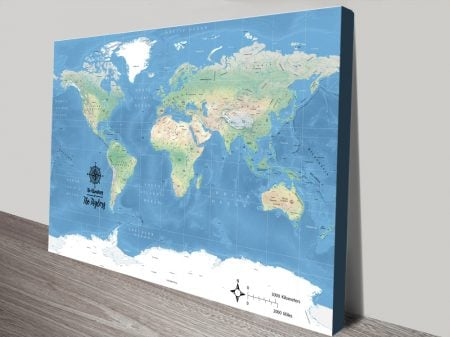 Buy a Classic Miller Physical Pushpin Map