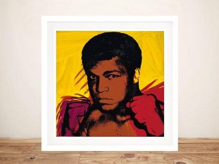 Buy Warhol's Muhammad Ali Framed Pop Art