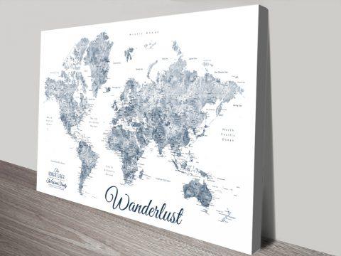 Buy Affordable Custom Wanderlust World Maps