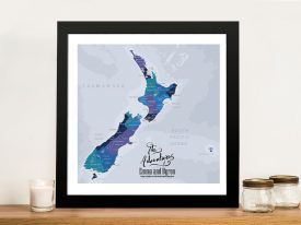 New Zealand Personalised Push Pin Map