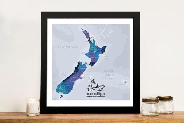 New Zealand Personalised Push Pin Map
