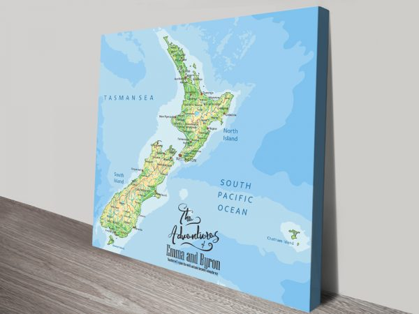 New Zealand Personalised Pushpin Map