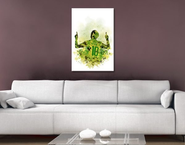 Buy Football Legends Canvas Wall Art Online