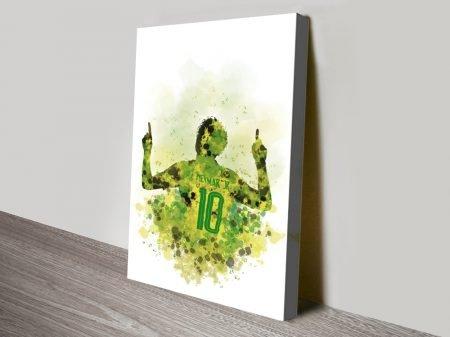 Buy a Watercolour Painting Print of Neymar