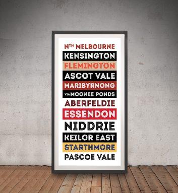 Buy Retro Australian Tram Banner Wall Art