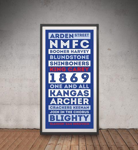 North Melbourne Roos Fanfare print