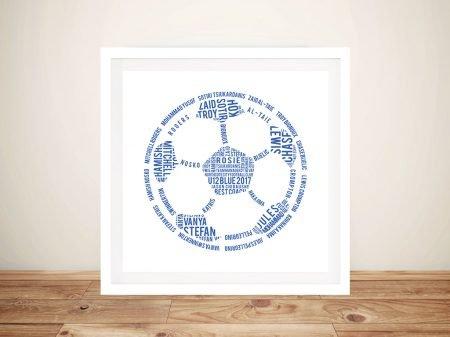 Personalised Football Outline Art
