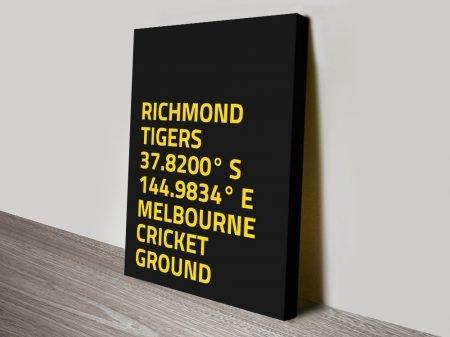 Buy AFL Team Colours Coordinates Wall Art
