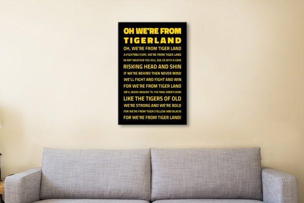 We're from TigerlandRichmond Tigers AFL Fan Art