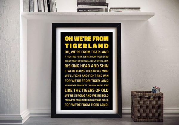 Richmond Tigers AFL Canvas Prints