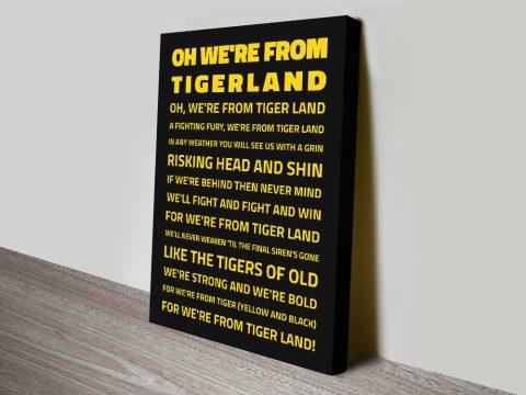 We're from TigerlandRichmond Tigers AFL Canvas Prints