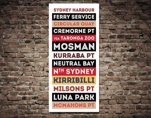Sydney Harbour Retro Wall Art