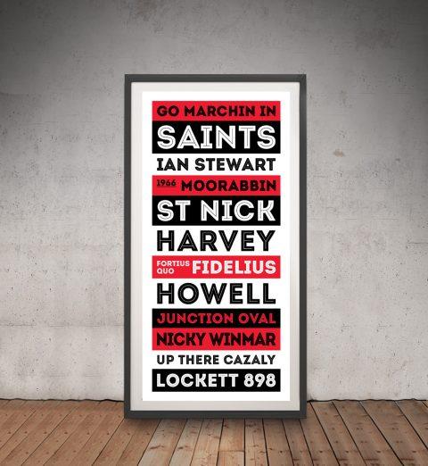 St Kilda Saints Framed Wall Art