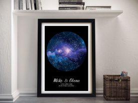 Blue Cosmos Custom Star MapArt