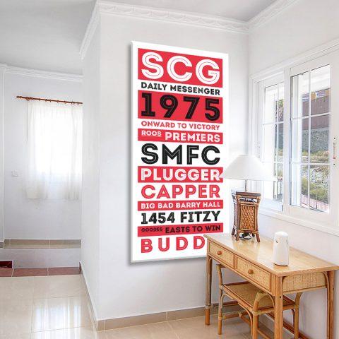 Sydney Swans Retro Tram Scroll Canvas Artwork
