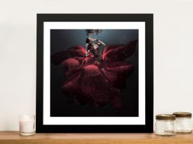 Buy The Lady in Red Framed Wall Art